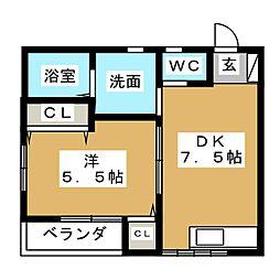メゾン・サクヤ[2階]の間取り