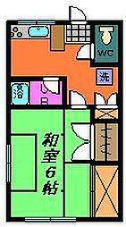 中溝荘(小仲台)[2階]の間取り