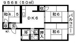 岡澤ハイツ[101号室号室]の間取り