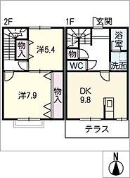 [タウンハウス] 愛知県あま市富塚郷 の賃貸【愛知県 / あま市】の間取り