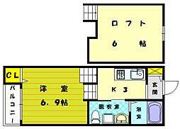 モモメゾン[1階]の間取り