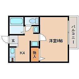 静岡県静岡市葵区瀬名中央の賃貸アパートの間取り