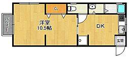 セレッソ甲子園口[2階]の間取り