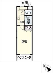 アスコット瀬戸口[2階]の間取り