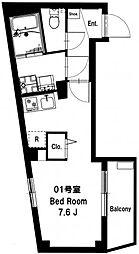 b'CASA Yokohama Tsurumi[301号室]の間取り