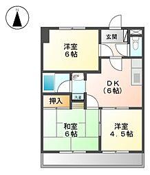 マンションオークラ[3階]の間取り
