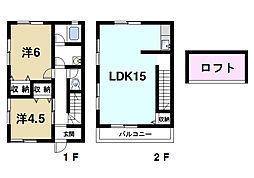 [テラスハウス] 奈良県奈良市秋篠町 の賃貸【/】の間取り