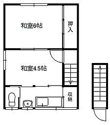 原田アパート[2階]の間取り