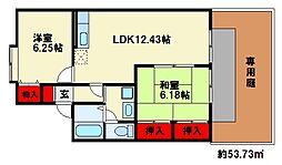 福岡県春日市惣利1丁目の賃貸アパートの間取り
