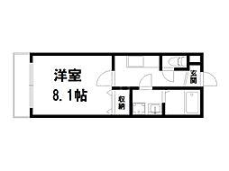 京都府京都市上京区北玄蕃町の賃貸アパートの間取り