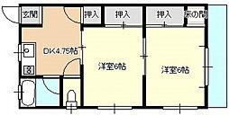 佐伯アパート[2階]の間取り