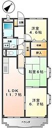東京都町田市木曽西3丁目の賃貸マンションの間取り