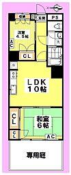中野本町マンション[1階]の間取り
