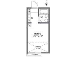 東京都東大和市向原4丁目の賃貸アパートの間取り
