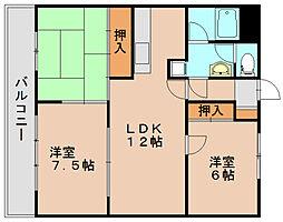 ローヤルエクセル箱崎1[4階]の間取り