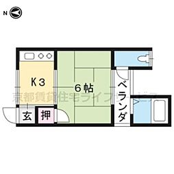 本町荘[2F-9号室]の間取り