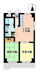 愛知県名古屋市港区丸池町2丁目の賃貸マンションの間取り