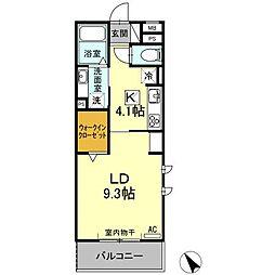 (仮)D−room刈谷市矢場町 B棟[201号室]の間取り