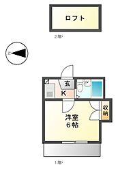 サングリーン 上飯田[1階]の間取り