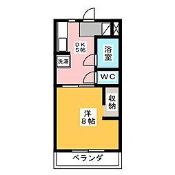 ハイツ赤とんぼ[1階]の間取り