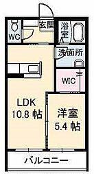 山口県下関市大字延行の賃貸アパートの間取り