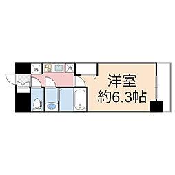 プレサンス THE TENNOJI 逢阪トゥルー 10階1Kの間取り