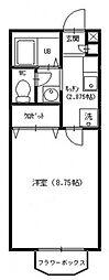 セレ中和倉[203号室号室]の間取り