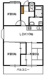 広島県広島市佐伯区八幡東2丁目の賃貸マンションの間取り