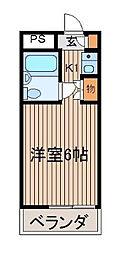 レジェンド調布[2階]の間取り