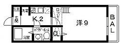 サンライブラ[203号室号室]の間取り