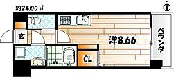 福岡県北九州市若松区大字塩屋の賃貸マンションの間取り