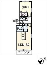 ラサーナ桂[2階]の間取り