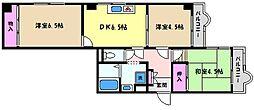 兵庫県神戸市東灘区魚崎北町1丁目の賃貸マンションの間取り