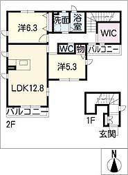 フェリオ A棟[2階]の間取り