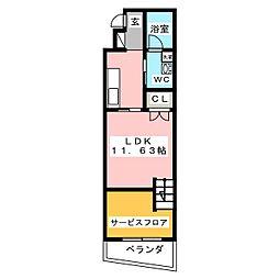 クレル瀬戸 S棟 1階1SLDKの間取り