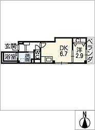 エテルノ幅下[4階]の間取り
