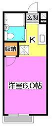 東京都練馬区東大泉4の賃貸アパートの間取り