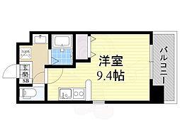 仮)都島本通4丁目新築マンション 9階ワンルームの間取り
