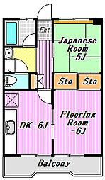 コーポ近江屋3[2階]の間取り