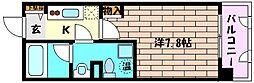 兵庫県神戸市灘区友田町4丁目の賃貸マンションの間取り