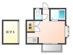 サンハウス津田沼[2階]の間取り