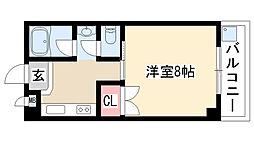 愛知県名古屋市緑区大清水2丁目の賃貸アパートの間取り