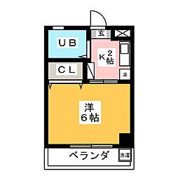コーポヤマオカ[3階]の間取り