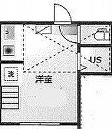 ザ・アーバンテラス高田馬場 2階ワンルームの間取り