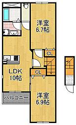 レジデンス大正千島2[2階]の間取り