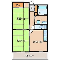 兵庫県尼崎市武庫之荘東2丁目の賃貸マンションの間取り