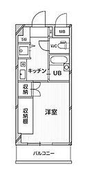 神奈川県横浜市都筑区富士見が丘の賃貸マンションの間取り