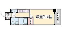 ワールドアイ神戸ハーバーランド 11階1Kの間取り