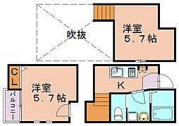 クレオ吉塚七番館[1階]の間取り