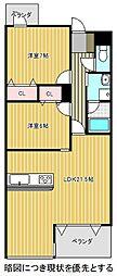 愛知県名古屋市千種区向陽町2丁目の賃貸マンションの間取り